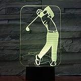 Kreative Golfspieler-Steigungsatmosphäre beleuchtet Nachtlichtnachtbettlichter