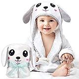 Kaome Baby Handtuch Kapuze Bio-Bambus Badetuch Kapuzenhandtuch Baby Großes weiches und super saugfähiges maschinenwaschbares Kleinkinder Badetücher mit niedlichen Ohren für Babybaden, 0-5 Jahre