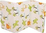 Fillikid Reisebettmatratze 60 x 120 cm | Baby-Matratze mit Tragetasche | atmungsaktiv & klappbar | Bezug 100% Baumwolle abnehmbar & waschbar | Kern aus hochwertigen Softschaum, Design:weiß