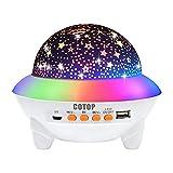 COTOP Sternenhimmel Projektor für Baby, Kinderzimmer Nachtlicht mit Bluetooth Musik, 360 degree Rotation Fernsteuerung wiederaufladbar Lampe, Geeignet für Kinder Geburtstagsgeschenke Weihnachten Party