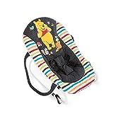 Hauck / Babywippe Rocky von Disney / Schaukelfunktion / verstellbare Rückenlehne, Sicherheitsgurt und Tragegriffe / ab Geburt bis 9 kg verwendbar / kippsicher und tragbar, Pooh Geo (Schwarz)