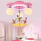 Kinderzimmer Deckenleuchte LED Kreative Karussell Kronleuchter Moderne Schlafzimmer Cartoon Deckenlampe Kinder Mädchen Junge Zimmer Lampe Wohnzimmer Schlafzimmer Kindergarten Dekoration Pendelleuchte