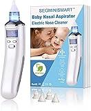 Nasensauger Baby, Nasal Aspirator, Baby Nasensauger Elektrisch, USB Aufladen mit 5 Einstellbare Saugstufen, 4 Silikon Tipps, LCD Bildschirm, Baby Nasal Aspirator für Neugeborene und Kleinkinder