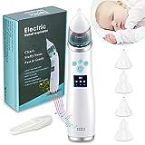 Nasensauger baby, USB-Lademusikfunktion Baby-Nasensauggerät, 3 Saugarten und 4 Arten von Silikonspitzen, wiederverwendbar, einfach zu säubernfür die meisten Babys geeignet