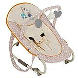 Hauck Bungee Deluxe Babywippe ab Geburt bis 9 kg mit Schaukelfunktion, Spielbogen, verstellbare Rückenlehne, Sicherheitsgurt, Tragegriffe, kippsicher, tragbar – beige