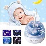 Nachtlicht Projektor, Stern Projektor Lampe 360 Grad Drehuniversum Meer Welt Sternenhimmel Karussell Bunter Sternlicht Projektor für Kinder Jungen Mädchen