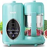 Babynahrungszubereiter- IKARE 8-in-1-Selbstreiniger-Mixer-Grinder-Dampfgarer mit abnehmbarem Wassertank und Dampfkorb und Schüssel - Touch-Bedienfeld - Babynahrung in 15 Minuten kochen