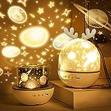 Sternenhimmel Projektor Lampe Kinder, Roysmart LED Musik Nachtlicht Lampe Schlafhilfe Kind, 6 Projektionsfilmen, 360° Drehbar, Eingebauten 8 Songs USB-Lade Geschenke für Kinderzimmer Dekoration
