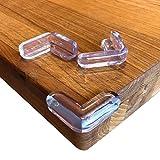 Keroos Eckenschutz und Kantenschutz transparent aus Silikon für Tisch und Möbelecken - Stoßschutz für Babys und Kinder - 3 M Kleber (12/20 Stück) (12 Stück)
