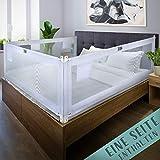 Kids Supply Bettgitter [200x80 cm]- Extrem sicheres & höhenverstellbares Bettschutzgitter [70-90 cm]- Rausfallschutz Bett für Kinder Bett & Elternbett