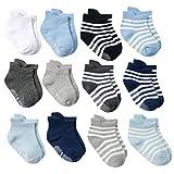 DEBAIJIA 12 Paar Baby Ankle Socken Baumwolle Kleinkinder Jungen Mädchen 0-1 Jahre Alt Niedliche Weich Casual Bequem Süß Atmungsaktiver - S