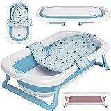 faltbare Babywanne mit 50 Litern Volumen von BEARTOP   inkl. Badewanneneinsatz Baby   ergonomisch & kompakt   stabiles PP & TPE Plastik   platzsparend   Zufriedenheitsgarantie (3 Jahre)*