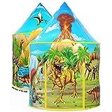 Wilwolfer Dinosaurier-Kinderzelt, aufklappbares Spielzelt für Kinder, Dinosaurier-Spielzeuge & Geschenke für Kinder Jungen & Mädchen, Spielhaus für Kinder Innen- und Aussenspiele