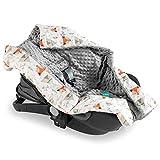 Navaris Babydecke Einschlagdecke für Autositz Babyschale - Baby Decke für Maxicosi Kinderwagen Babybett - Einwickeldecke Babyschalendecke - waschbar