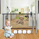 SEGMINISMART Haustier-Schutzgitter,Magic Gate für Hunde,Tragbares und Faltbares Sicherheitsgitter für Hunde,Sicherer Schutz überall zu Installieren
