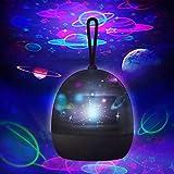 zonpor Star Projektor Nachtlicht für Kinder, 360 Grad drehbar, 4 optionale Themen, Universum Planeten/Unterwasserwelt/Karussell/Sternenhimmel-Lampe für Schlafzimmer schwarz
