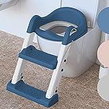 Premium Toilettensitz Kinder mit Treppe von BEARTOP | rutschfest | Kindertoilette Toilettentrainer mit Treppe | 2020 stabileres & moderneres Design | bis zu 75kg | Zufriedenheitsgarantie (3 Jahre)*