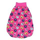 TupTam Baby Unisex Strampelsack mit breitem Bund Wattiert, Farbe: Süße Monster Pink, Größe: 0-6 Monate