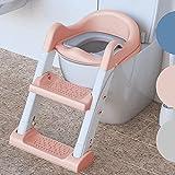 Premium Toilettensitz Kinder mit Treppe von BEARTOP | rutschfest | Kindertoilette Toilettentrainer mit Treppe | 2021 stabileres & moderneres Design | bis zu 75kg | Zufriedenheitsgarantie (3 Jahre)*