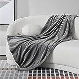 BEDSURE Kuscheldecke Sofa Decken grau - XL Fleecedecke für Couch weich und warm, Wohndecke flauschig 150x200 cm als Sofadecke Couchdecke