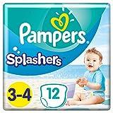 Pampers Größe 3-4 Splashers Baby Windeln, 96 Stück, Schwimmwindeln Mit Doppeltem Beinbündchen
