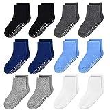 ELUTONG Anti Rutsch Socken Kinder Baby Jungen Socken - 12 Paar ABS Antirutsch Anti-Rutsch Kleinkinder Babysocken für 1-3 Jahre