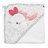 Fehn 057263 Kapuzenbadetuch Einhorn / Bade-Poncho aus Baumwolle mit niedlichem Einhorn für Babys und Kleinkinder ab 0+ Monaten