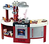 Theo Klein 9155 Miele Küche Gourmet International I Spielküche inkl. Herdplatte mit batteriebetriebenem Soundmodul, Ofen, Geschirrrspülmaschine und vielem mehr | Maße: 120 cm x 43 cm x 95 cm