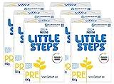 Nestlé LITTLE STEPS PRE Anfangsnahrung, von Geburt an, 6er Pack (6 x 500g)