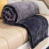 Kuscheldecke Grau 200 × 230cm, RATEL Weiche Flauschige Plüsch Decke, Flanell Fleecedecke TV-Decken / Sofadecke / Wohndecke/Mikrofaser Couchdecke/ Samtdecke - Pflegeleicht - Warm, Gemütlich, Langlebig