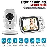 Babyphone 3,2 Zoll Smart Baby Monitor mit TFT LCD Bildschirm Nachtsichtkamera und Temperaturüberwachung (Verpackung MEHRWEG)