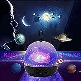 DQMOON Nachtlicht Sternenhimmel Projektor, 4 in 1 kinder projektor lampe mit Sternenhimmel Seewelt Karussell Universum, 8 Farbmodi Nachtlicht für Kinder Schlafzimmer Dekoration, Geschenke für Kinder
