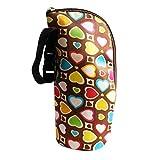 Babyflasche Tasche, Baywell Baby Thermobox Warmhaltebox Isoliertasche für Milchflaschen (Blumendruck B)