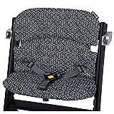 Safety 1st 2003850000 Timba Comfort Cushion, Hochstuhl-Sitzkissen, schnelle und einfache Befestigung, waschbar, bietet dem Kind noch mehr Komfort, Geometric, schwarz, 150 g
