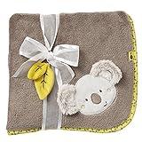 Fehn 064193 Kuscheldecke Koala / Kuschelige Schmusedecke für Babys und Kleinkinder ab 0+ Monaten - zum Kuscheln, als Krabbelunterlage oder Schnuffeltuch, Maße: 100x75cm