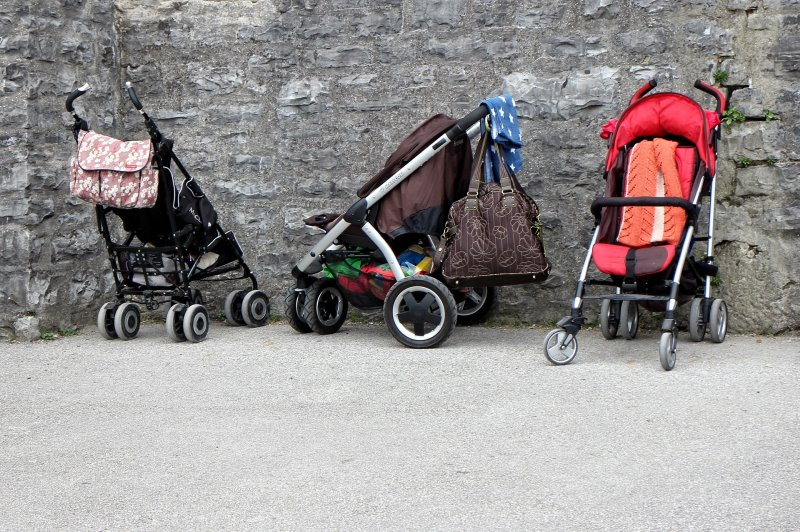 Wickeltasche am Kinderwagen